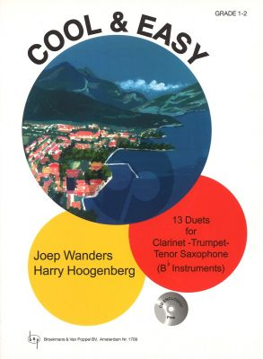 Wanders-Hoogenberg Cool & Easy Bb Instruments (Bk-Cd) (Clarinet/Trumpet/Tenorsaxophone) (Grade 1 - 2)