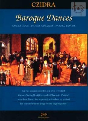 Baroque Dances for 2 Descant Recorders [Ob./Vi.]