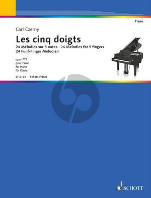 Czerny Les Cinq Doigts (24 Melodies for 5 fingers) Op.777 piano