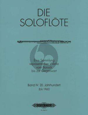 Album Die Soloflote Vol.4: 20. Jahrhundert bis 1960 (Eine Sammlung reprasentativer Werke vom Barock bis zur Gegenwart) (Herausgegeben von Mirjam Nastasi)