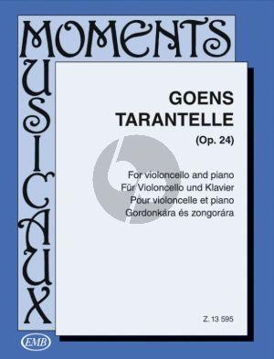 Goens Tarantella Op.24 Violoncello and Piano (edited by Árpád Pejtsik)