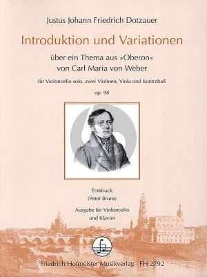 Dotzauer Introduktion und Variationen uber ein Thema aus Oberon von Carl Maria von Weber Op.98