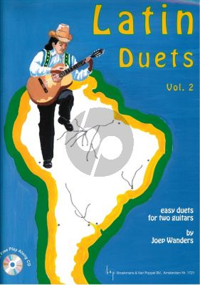 Wanders Latin Duets Vol.2 2 Guitars (Bk-Cd) (Easy Duets with Play Along Cd) (Grade 2 - 3)