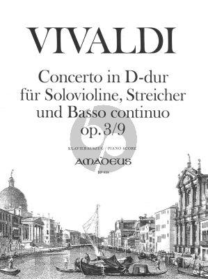 Vivaldi Konzert D-dur Op.3 No.9 Violine - Klavier ((L'Estro Armonico)) (Morgan)