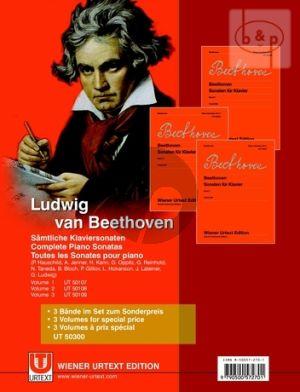 Samtliche Klaviersonaten (Set of 3 Vols Complete)