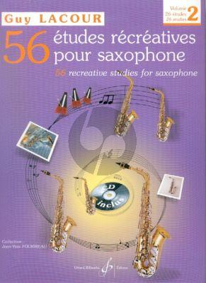 56 Etudes Recreatives Vol.2 (26 Etudes) Saxophone