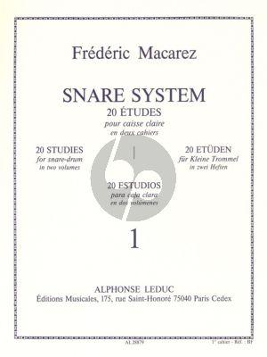 Macarez Snare System Vol.1 20 Etudes Snare Drum