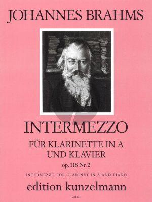 Brahms Intermezzo Op.118 No.2 Klarinette in A-Klavier (Popov)