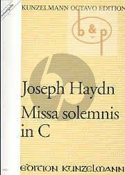 Missa Solemnis in C (Partitur)