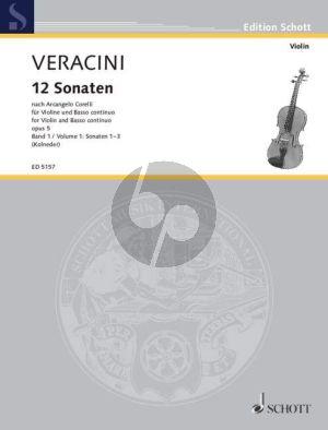12 Sonaten nach Op. 5 von Corelli Vol. 1 (No. 1-3) fur Violine-Bc