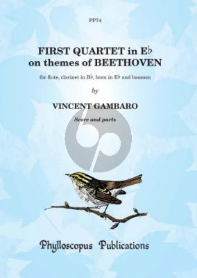 Gambaro Quartet No.1 on themes of Beethoven Flute-Clar.in Bb-Horn-Bassoon (Score/Parts) (Nex)