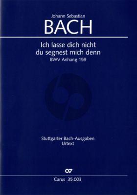 Bach Ich lasse dich nicht (BWV Anhang III 159) (SATB-SATB-Bc ad lib.))