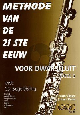 Glaser Methode van de 21ste Eeuw Vol.5 Fluit (Bk-Cd)
