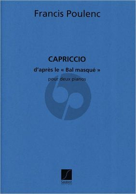 Poulenc Capriccio d'apres Le Bal Masque 2 Piano's