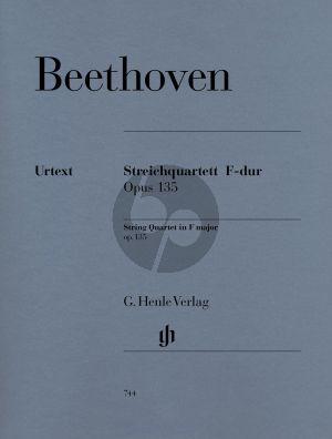 Beethoven Streichquartett F-dur Op.135 (Stimmen) (Rainer Cadenbach) (Henle-Urtext)