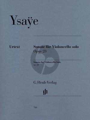 Ysaye Sonate Op.28 Violoncello solo (Bellisario) (Henle-Urtext)