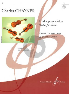 Chaynes Etudes Vol.1 20 Etudes (1st to 3rd position and 5th position) (Grade 1 - 3) (Bk-Cd)