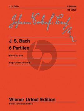 Bach 6 Partiten BWV 825 - 830 (Engler/Picht-Axenfeld) (Wiener Urtext)