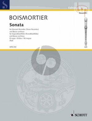 Boismortier Sonate D-Dur Sopran oder Tenorblockflote und Bc (Hugo Ruf)