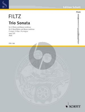 Filtz Trio Sonata F-Major Op. 2 No. 5 2 Flutes with Bc (Hugo Ruf) (Grade 3)