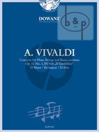 "Vivaldi Concerto D-Major Op.10 No.3 RV 428 ""Il Gardellino"" Flute-Strings-Bc (piano red.) (Bk-Cd)"