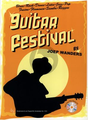 Wanders Guitar Festival Vol.1 (Bk-Cd) (Grade 3) (Blues, Rock, Dance, Latin, Jazz, Pop, Fusion Flamenco, Samba, Reggae)