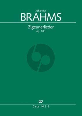Brahms Zigeunerlieder Op.103 4 Singstimmen und Klavier Partitur (Sergej Rogowoj)