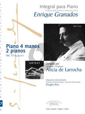 Granados Complete Works Vol.17 Piano 4 hds and 2 Piano's (Alicia de Larrocha)