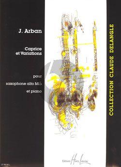Arban Caprice & Variations Saxophone Alto-Piano