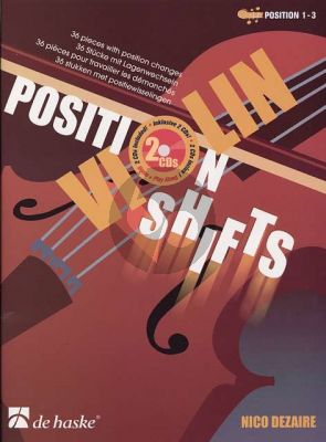 Dezaire Position Shifts for Violin (Bk- 2 Cd's) (36 Pieces with Position Changes) (Position 1 - 3)