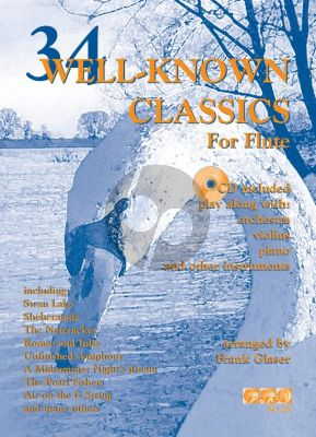 Glaser 34 Well-Known Classics (flute) (Bk-Cd) (grade 2-3) (CD with Play-Along with Orchestra)