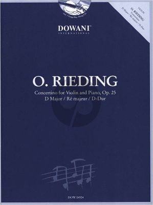 Rieding Concertino D-Major Op.25 Violin-Piano (Bk-Cd) (Dowani)