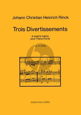 Rinck 3 Divertissements Op.41 (1816) Klavier 4 Hd.
