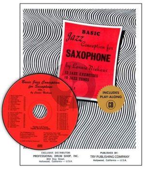 Niehaus Basic Jazz Conception Vol.1 Saxophone (12 Jazz Exercises and 10 Jazz Tunes) (Bk-Cd)