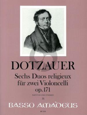 Dotzauer 6 Duos Religieux Op.171 2 Violoncellos (Score/Parts) (Bernhard Pauler)