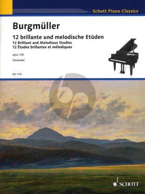 Burgmuller 12 brillante und melodische Etüden Opus 105 Piano Solo