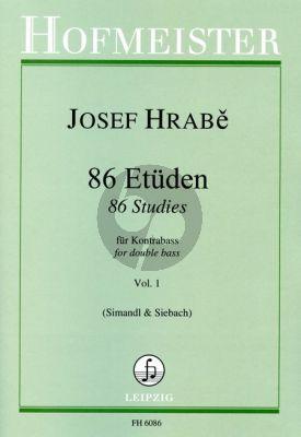 Hrabe 86 Etuden Vol.1 Kontrabass (Franz Simandl ynd Konrad Siebach)
