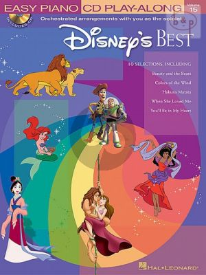 Disney's Best (Easy Piano CD Play-Along Vol.15) (Bk-Cd)