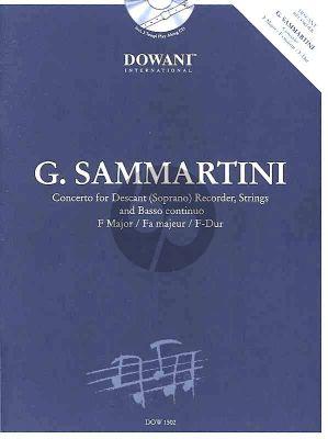 Sammartini Concerto F-major Descant Recorder-String-Bc (piano reduction Dowani) (Manfredo Zimmermann)