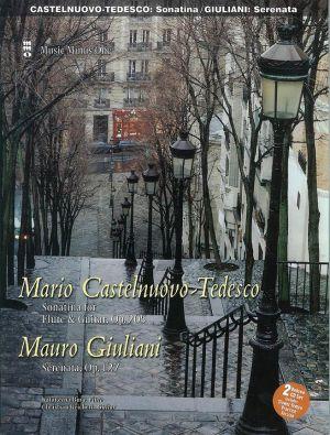 Castelnuovo-Tedesco Sonatina Flute-Guitar Op.205 / M. Giuliani Serenata Op.127 Guitar part (Bk- 2 Cd DeLuxe Set) (MMO Minus One Guitar)