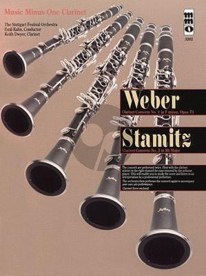 Weber Concerto No.1 F-minor Op.73 & Stamitz C. Concerto No.3 B-flat Clarinet-Orchestra (Bk-Cd) (MMO)
