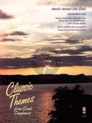 Classic Themes from Great Composers for Flute (27 Songs Intermediate Level) (Bk-Cd) (Music Minus One Flute)