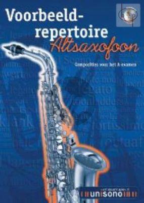 Voorbeeld Repertoire A-Examen (Alto Sax.) (Bk-Cd)