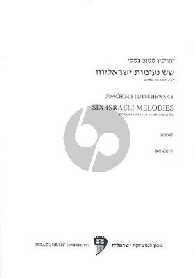 Stutschewsky 6 Israeli Melodies Violoncello-Piano