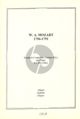 Mozart Sonata C-Major KV 292 (196c) for Clarinet in Bb and Piano