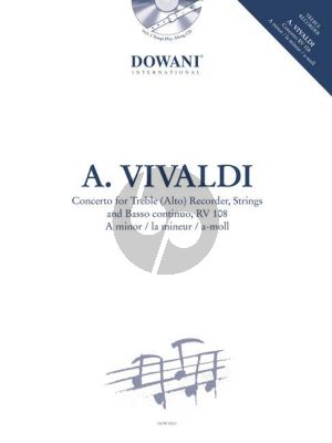 Concerto a-minor RV 108 Treble Recorder-Strings-Bc (Bk-Cd)