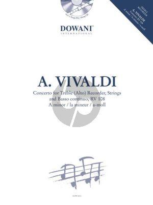 Concerto a-minor RV 108 Treble Recorder-Strings-Bc (Bk-Cd)