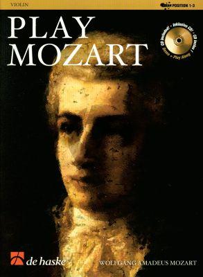 Play Mozart for Violin (Bk-Cd) (Pos.1 - 3) (easy-interm. grade 3) (arr. R.Kernen)