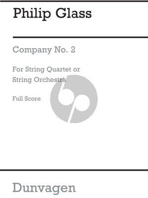 Glass Stringquartet No.2 'Company' Fullscore
