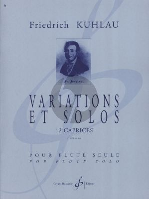 Kuhlau Variations et Solo - 12 Caprices Op.10bis Flute (Philippe Bernold) (Intermediate-Advanced)
